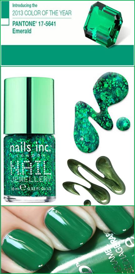 tendencias en uñas verde