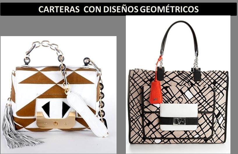 tendencias en bolsos estilo geometricos