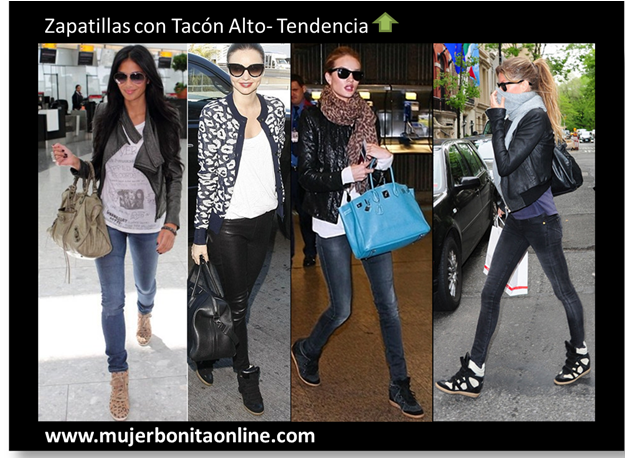zapatillas de tacon alto hollywood