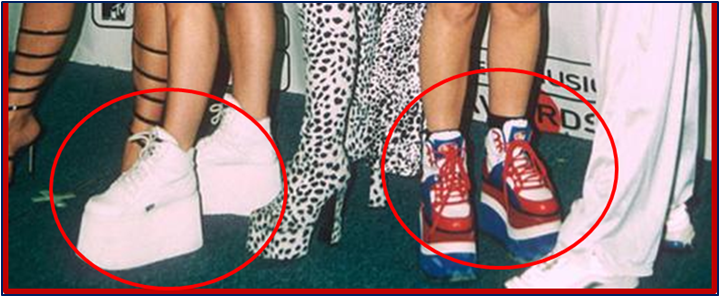 zapatillas de tacon alto spice girls